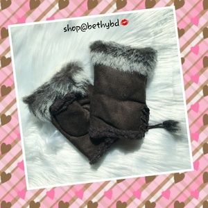 CCO ONLY 5🌟rated Fingerless Faux Fur Gloves Brown